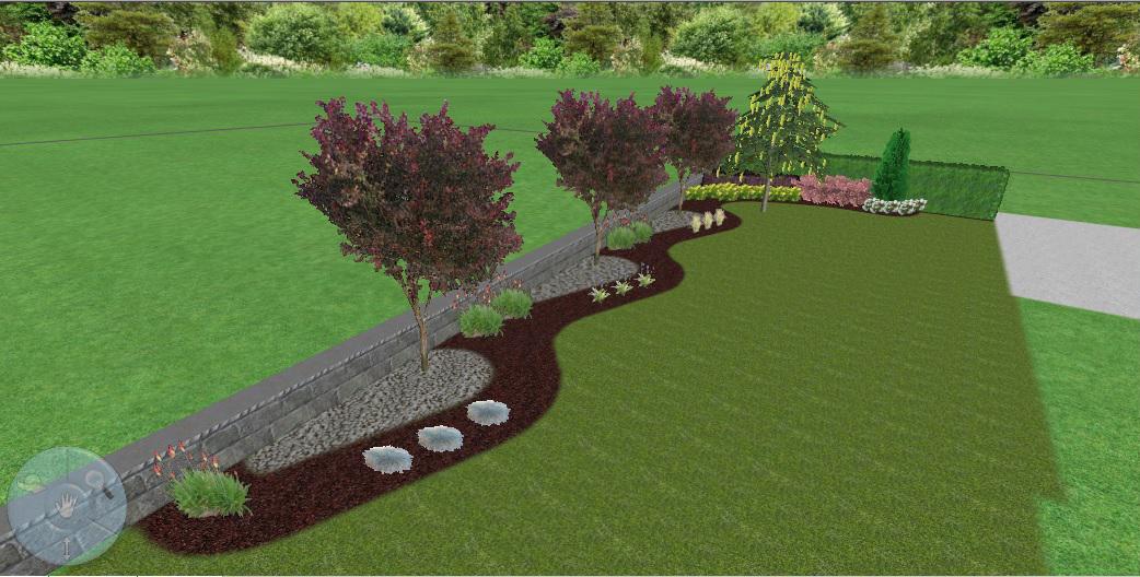 3D проект - частен двор