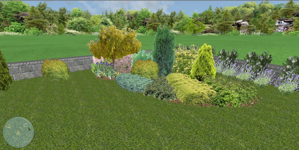 3D проект, растителна група - частен двор